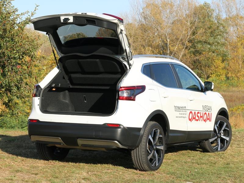 Nissan Qashqai csomagtér