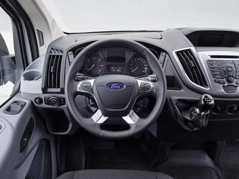2014 Ford Transit Minibus car interior, steering wheel