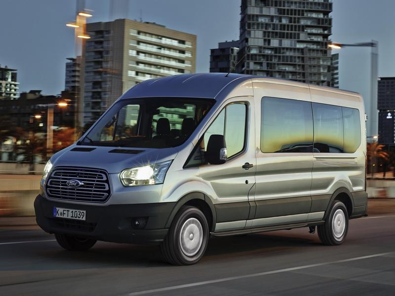 2014 Ford Transit Minibus silver car driving