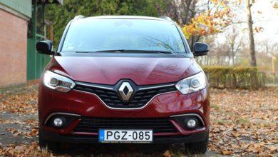 Renault Grand Scénic 1.6 dCi teszt – hétszemélyes pakolós
