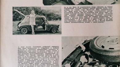 Képes híradó MINI és DAF Autó-Motor 1968