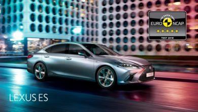5 csillag a Lexus ES-nek