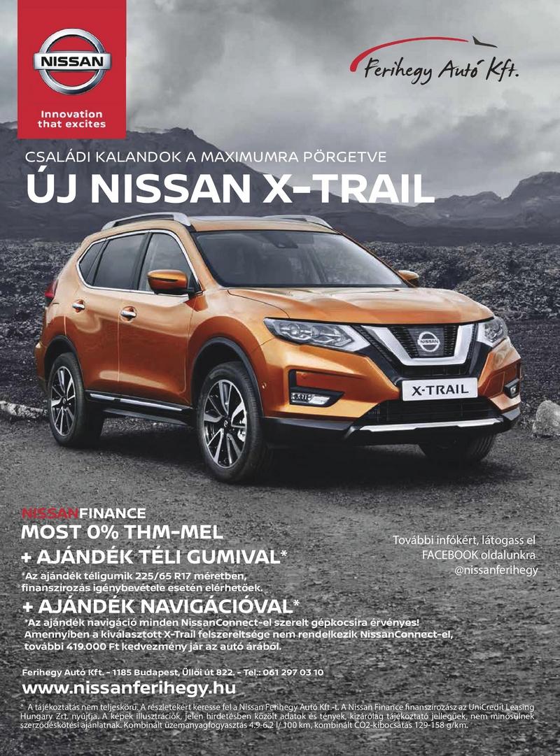 Nissan X-Trail ferihegy autó