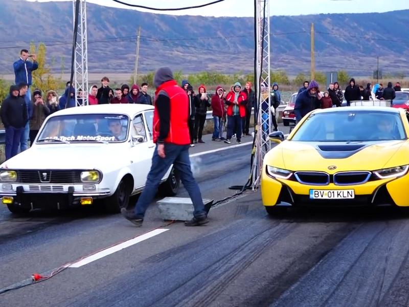 BMW i8 vs dacia
