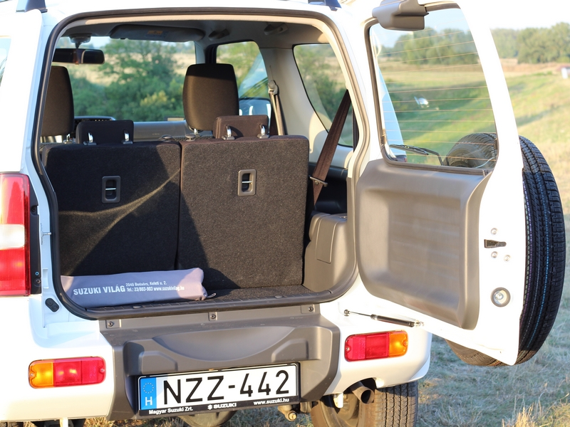 Suzuki Jimny csomagtér