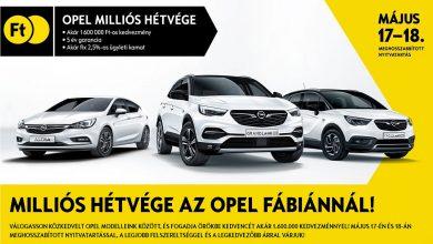 Photo of Milliós kedvezményekkel készül az Opel Fábián a hétvégére