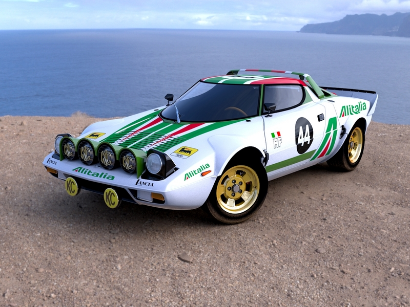 Photo of Lancia Stratos HF a ralipályán