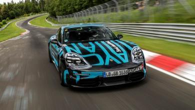 Photo of Előszériás Porsche Taycan futott rekordkört a Nürburgringen